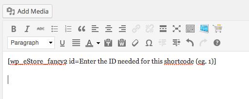 enter shortcode